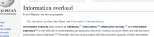 Wikipedia Definition of Information Overload